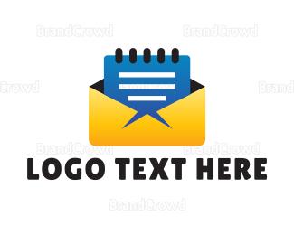 File Transfer - Folder Notepad logo design