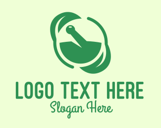 Alternative Healing - Green Herbal Medicine logo design