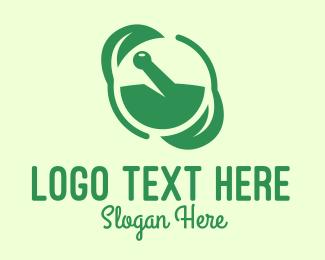 Medicinal - Green Herbal Medicine logo design