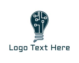 Lamp - Lamp Circuit  logo design