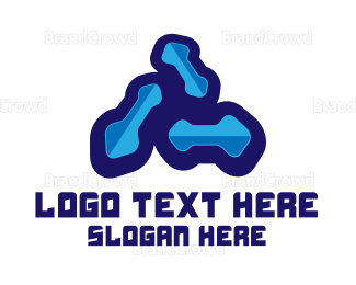 Biology - Blue Bacteria logo design