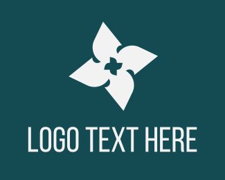Propeller - Blade Flower logo design