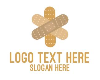 Healing - Band-Aid Cross logo design