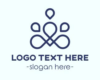Meditate - Abstract Meditation logo design