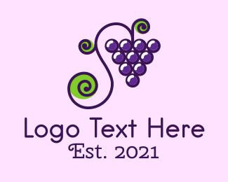 Fresh Fruit - Grapevine Fruit logo design