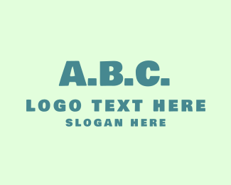 Alphabet - ABC Alphabet logo design