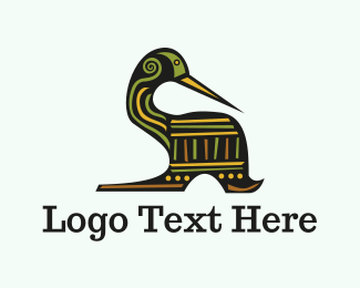 Detail - Tribal Duck logo design