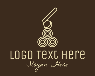 Tool - Wood Log Lumber Axe logo design