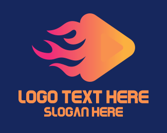 Fire - Fire YouTube Media Player logo design