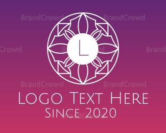 Austrian - Gradient Celtic Flower Lettermark logo design