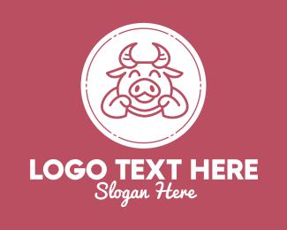 Joy - Happy Cute Ox logo design