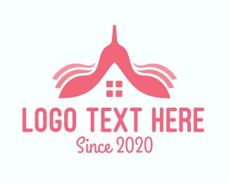 Beauty  Salon - Pink House Property logo design