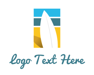 Venice Beach - Surfboard Surf Beach logo design