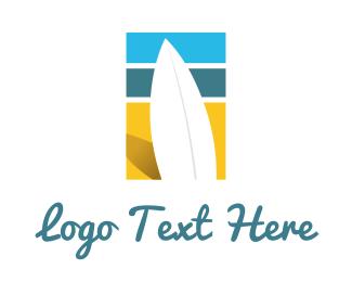 Lifeguard - Surfboard Surf Beach logo design