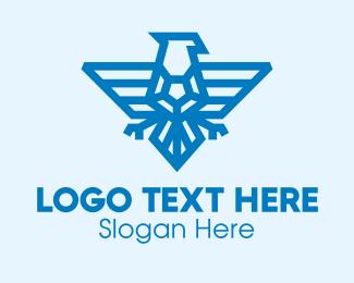 Gem - Blue Eagle Gem logo design