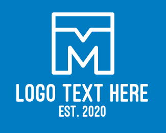 Communicate - Chat Letter M logo design