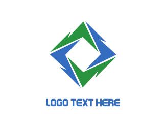 Sustainable - Green Blue Vortex logo design