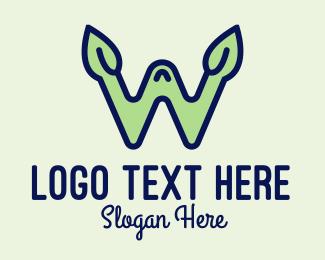 Letter W - Nature Letter W logo design