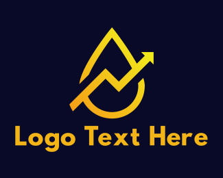 Yellow - Yellow Arrow Drop logo design