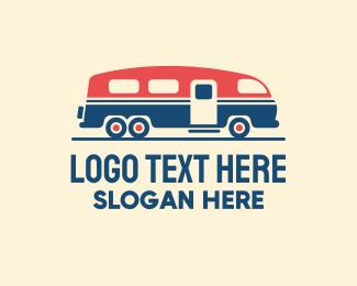 Driving - Hip Trailer Camper Van logo design