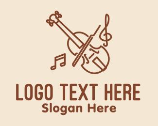 Conductor - Violin Classic Music logo design