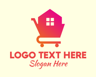 Shopping Cart - House Shopping Cart logo design