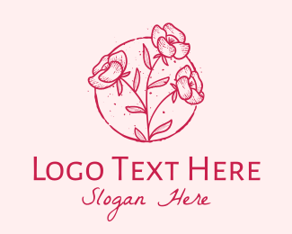 Lifestyle - Vintage Flowers  logo design