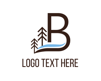 Pine - Letter B logo design