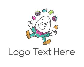 Egg - Juggler Egg logo design