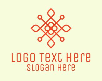 Bloom - Orange Flower Emblem logo design