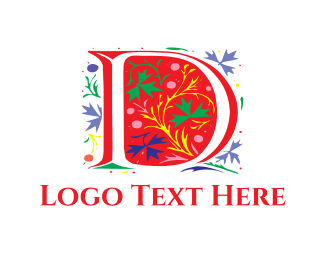 """""""Floral Letter D"""" by shahin13"""