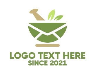 Leaves - Mail Leaves Pharmacy logo design