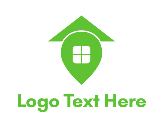 Place - Green Home Place logo design