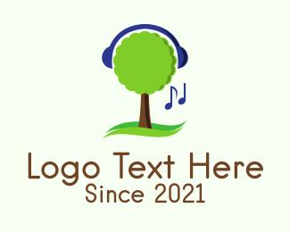 Listen - Tree Music Streaming  logo design