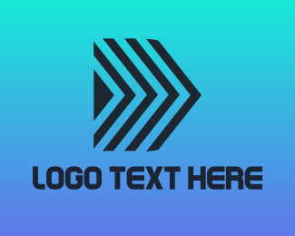 Youtube - Black Arrows logo design