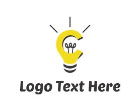 Intelligent - Bulb & Idea logo design