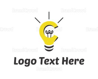 Filament - Bulb & Idea logo design