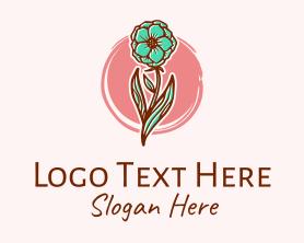 Handmade - Vintage Carnation Flower logo design