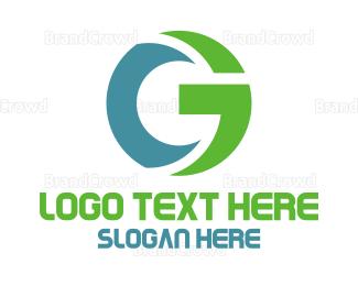Computer - Blue Green Tech G logo design