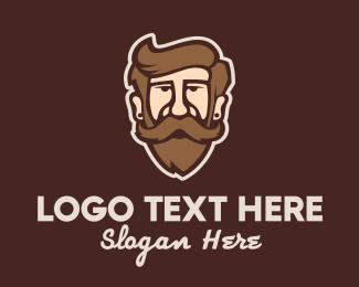 Bonnet - Hipster Old Guy logo design