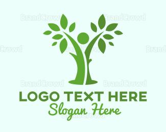 Human Tree - Green  Human  logo design