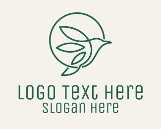 Circle - Bird Circle Monoline logo design