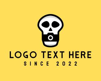 Skull - Skull Camera Photographer logo design