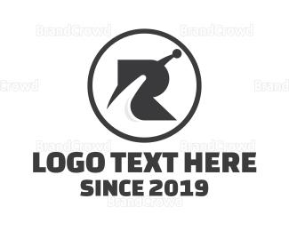 Outer Space - Space Tech R logo design