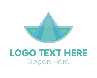 Blue Green Abstract Boat Logo