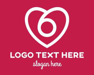 Birthday - White Heart Outline logo design