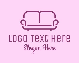 Purple Sofa Furniture Logo