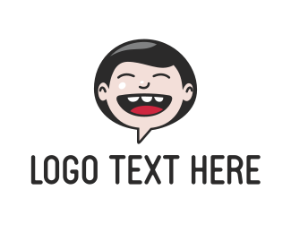 Language - Laugh Chat logo design