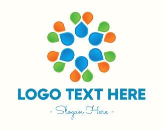 Lantern - Multicolor Flower Petals logo design