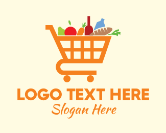 Grocery Store - Grocery Shopping Cart logo design